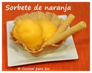 Sorbete de naranja