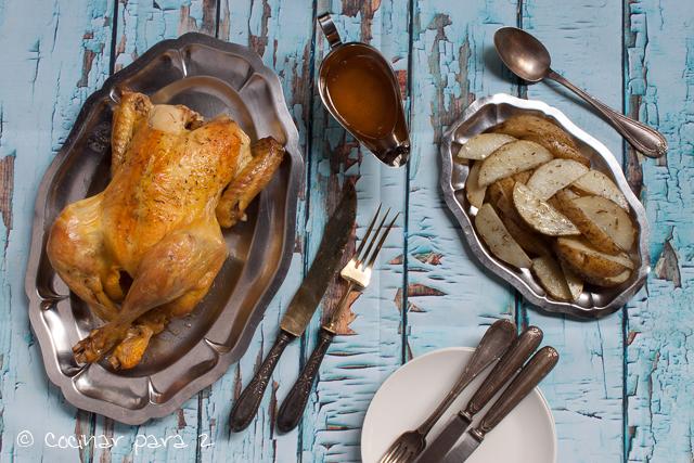 pollo en bolsa de asar