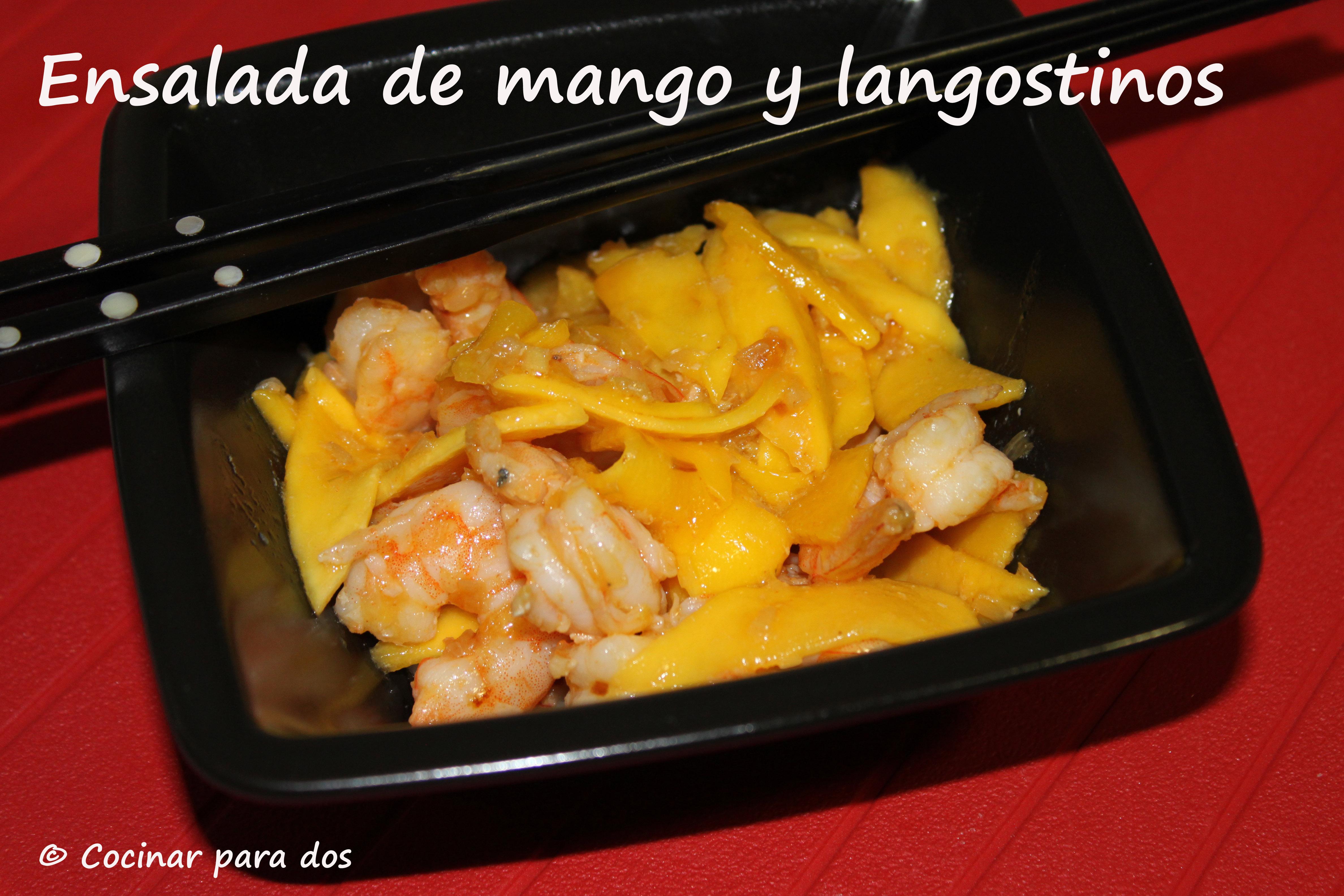 Ensalada de mango y langostinos cocinar para 2 for Cocinar con mango