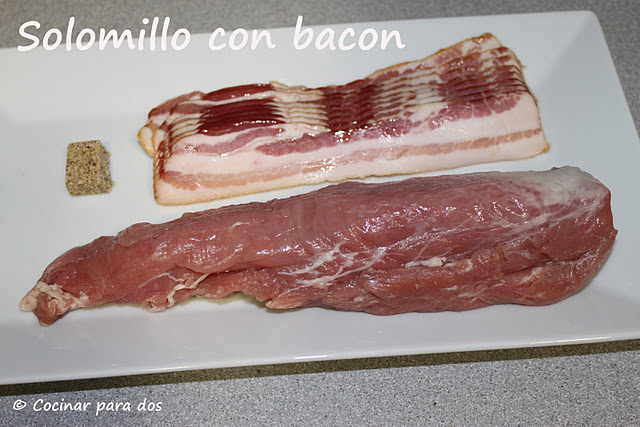 solomillo de cerdo con bacon