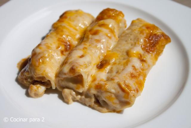 canelones de atun con crema Knorr