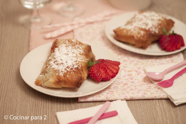 pastel de fresas