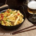 Salteado de arroz y pollo