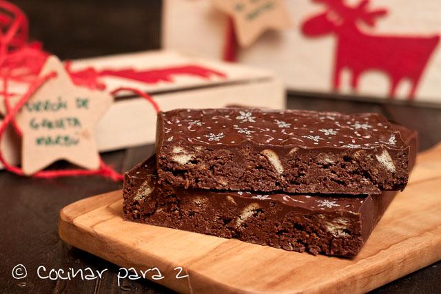 Turrón de chocolate y galleta – Receta de Navidad