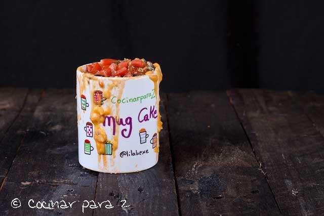 mug cake tomate frito
