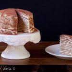 Tarta tiramisú de tortitas