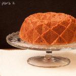 Bundt cake de turrón. Receta de navidad
