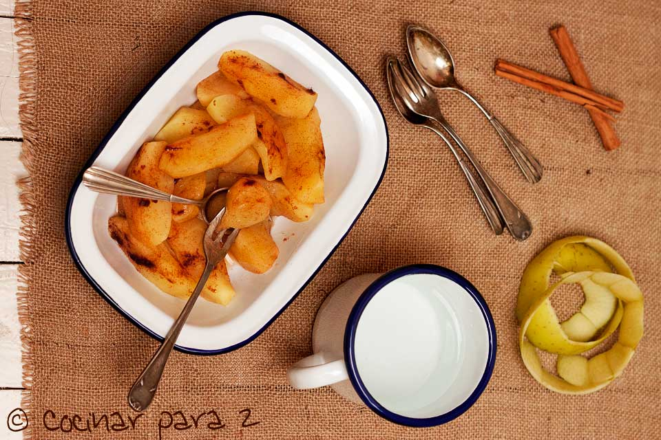 manzanas microondas