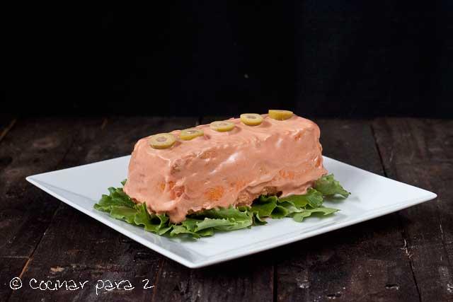pastel pescado microondas