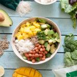 ensalada mango y arroz