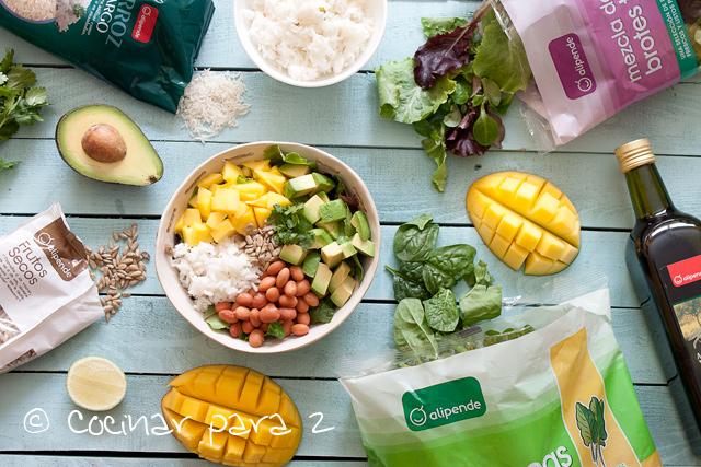 Ensalada de mango y arroz