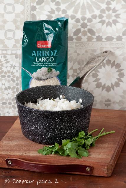 arroz con cilantro